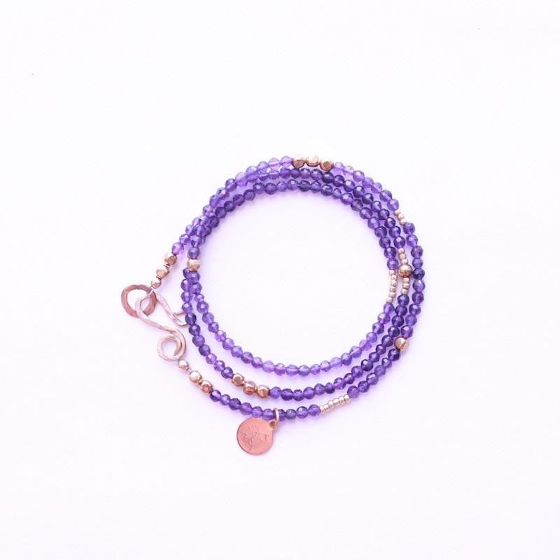 Amethyst Wrap Bracelet & Necklace