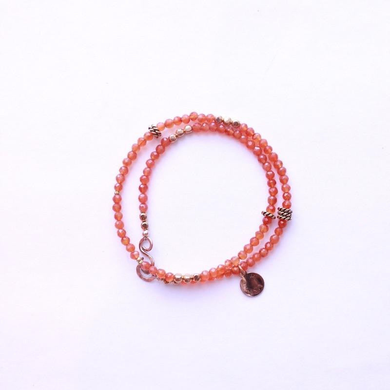 Carnelian Wrap Necklace & Bracelet