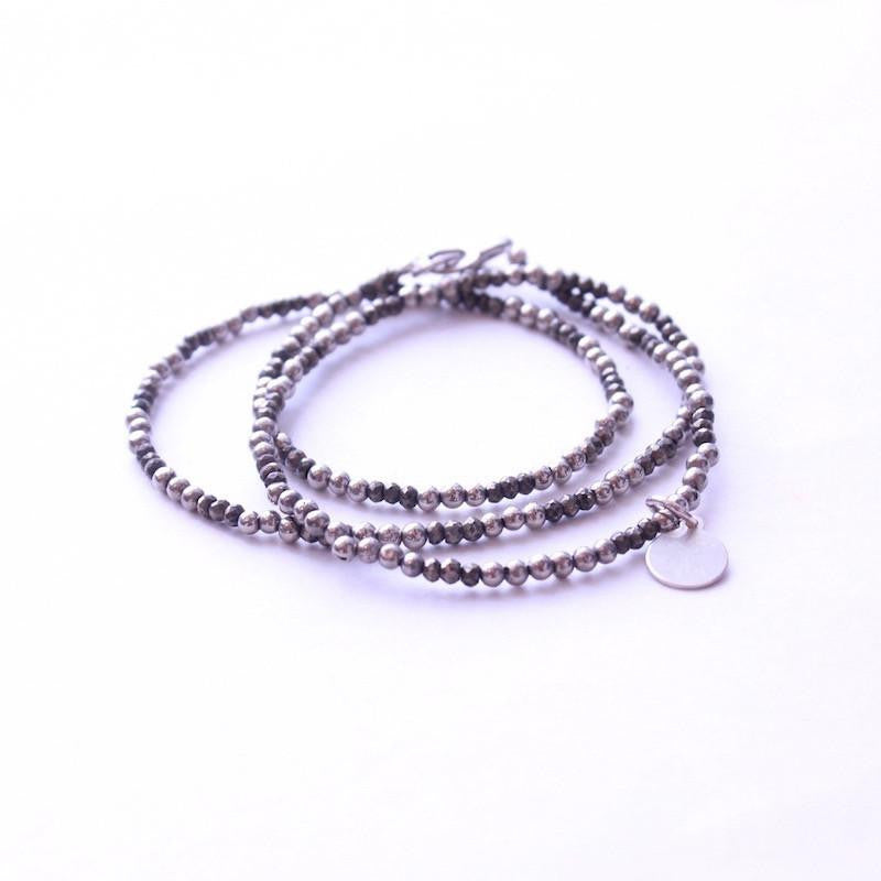 Pyrite Wrap Bracelet & Necklace