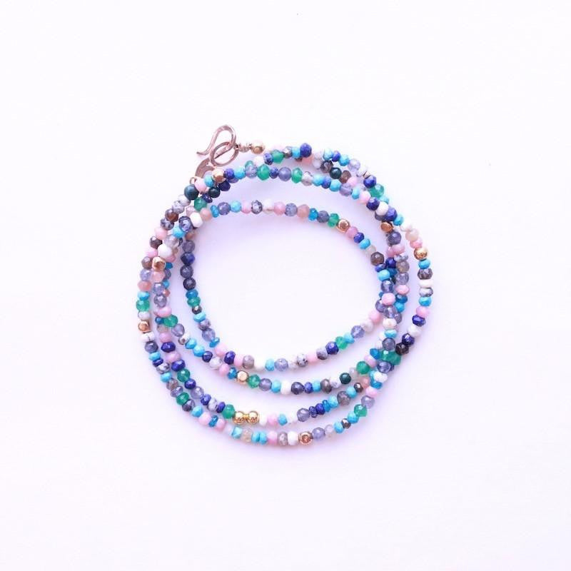 Multi-Gemstone Wrap Bracelet & Necklace