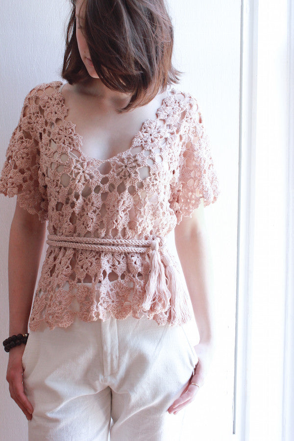 Mauve Crochet Top