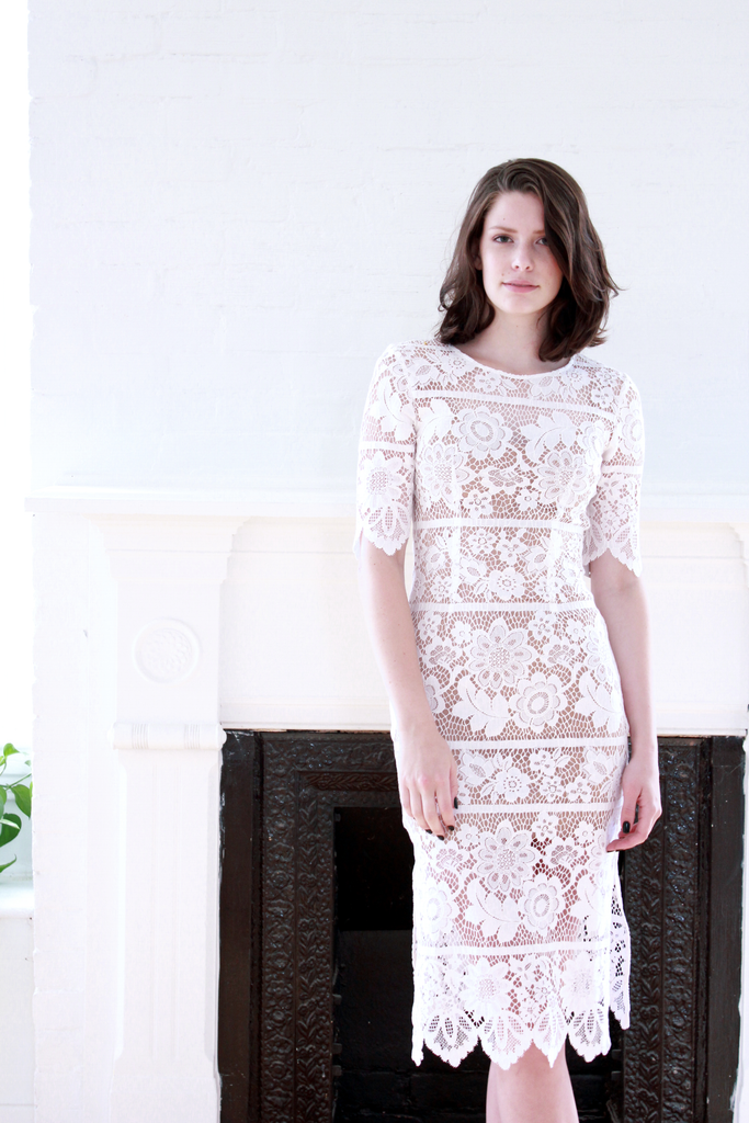 Viviana Lace Midi Dress
