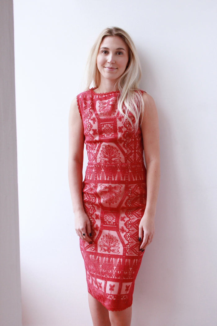 Crimson Estella Dress