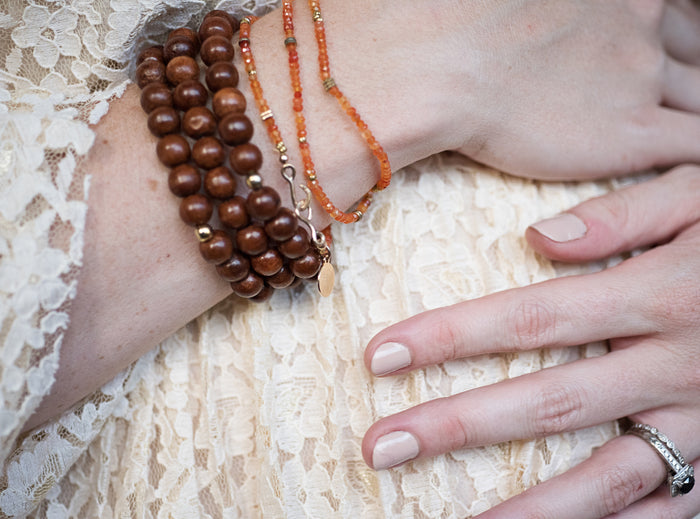 Carnelian Wrap Bracelet & Necklace