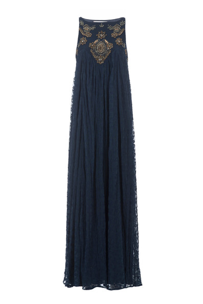 KOROVILAS 'Catalin' Embellished Maxi Dress, Navy