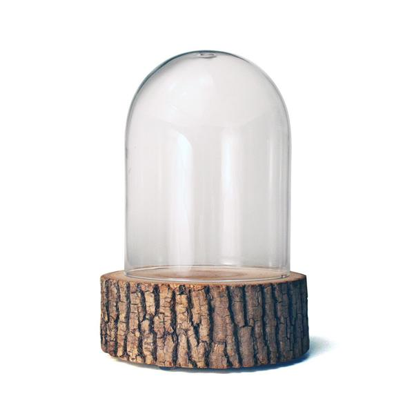 Vermont Wood Candle Cloche
