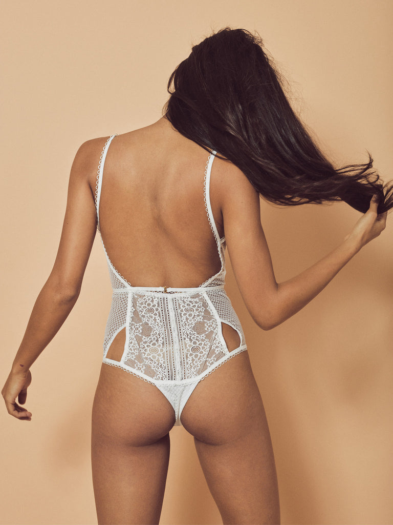 Bordeaux Lace Bodysuit