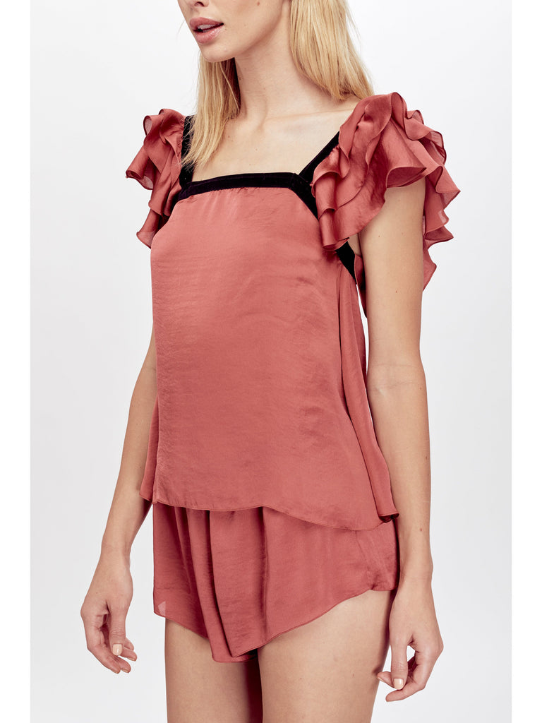 AILEEN RUFFLED SLEEP TOP