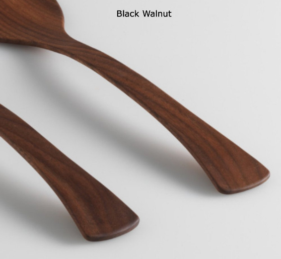 "Salad Servers 15"" Black Walnut"
