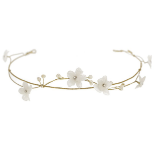 Ivory Cherry Blossom Crown