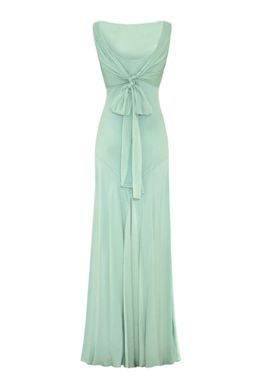 Satin-Chiffon Dress