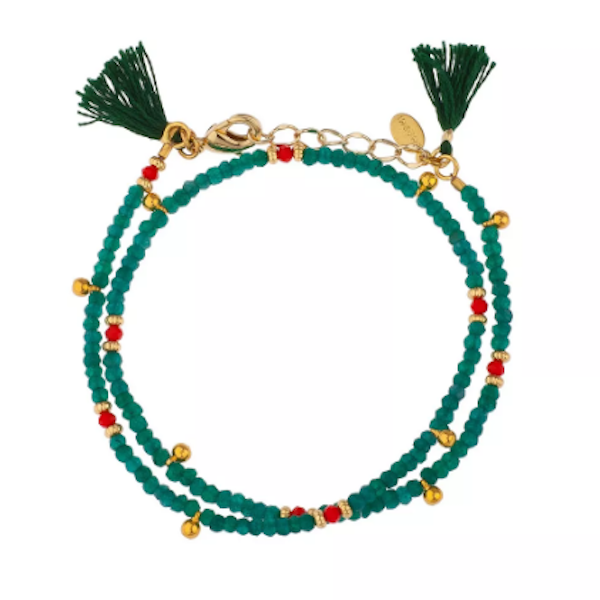 Eliza Gemstone Wrap Bracelet // Mint