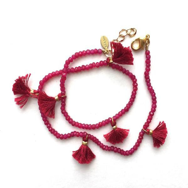 Ruby Gemstone Bracelet