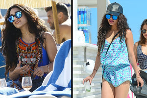 vanessa hudgens vacations wearing l'expression bracelet