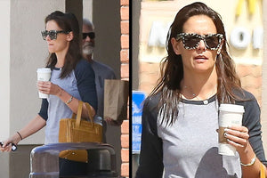 katie holmes wearing the signature bracelet in calabasas