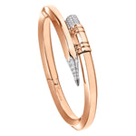 Rose Gold Large Gauge Bracelet