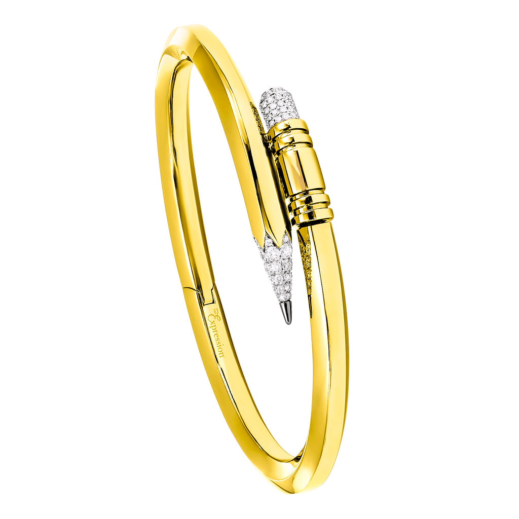 Yellow Gold Medium Gauge Bracelet