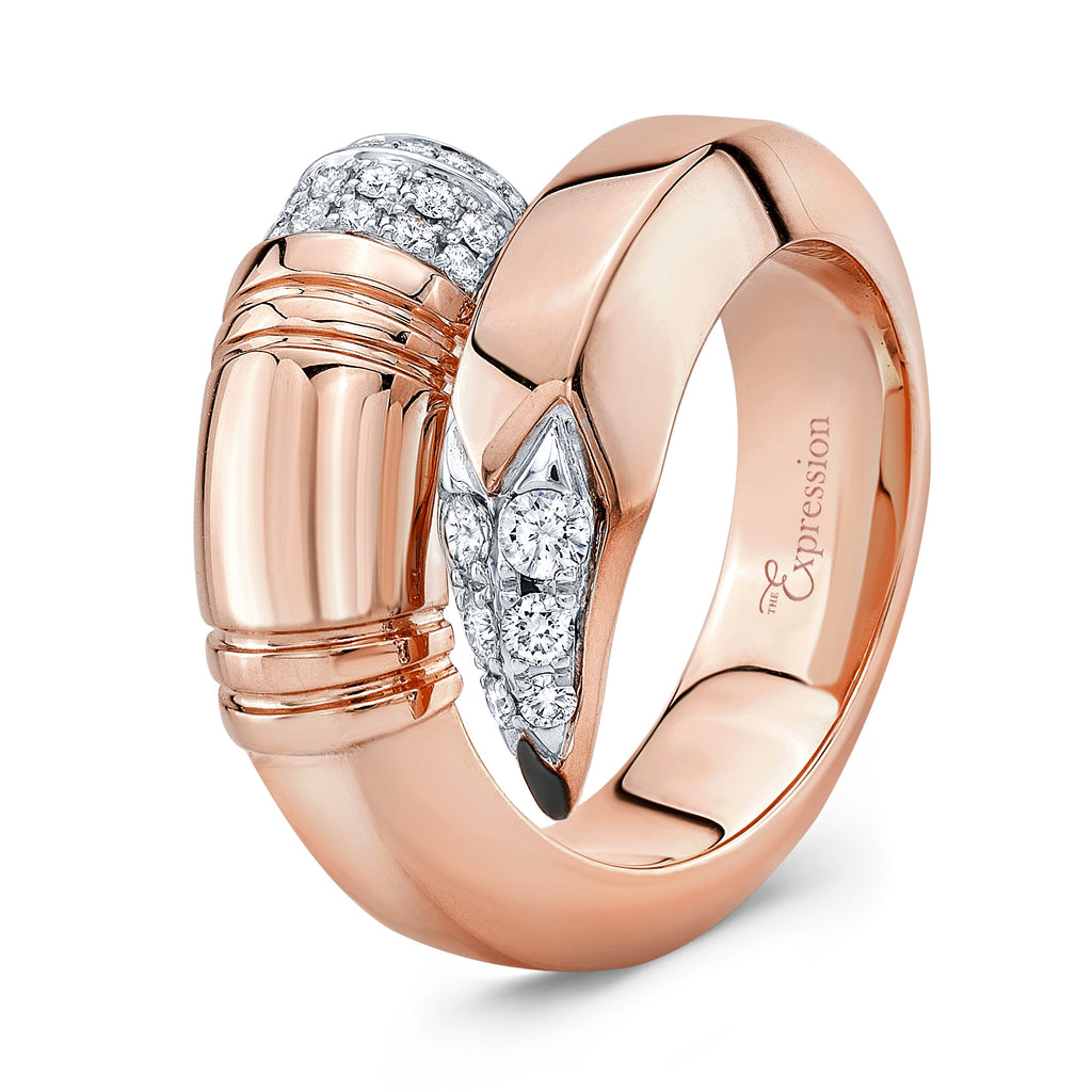 Rose Gold Large Gauge Ring