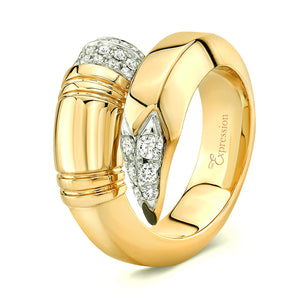 Yellow Gold Large Gauge Ring