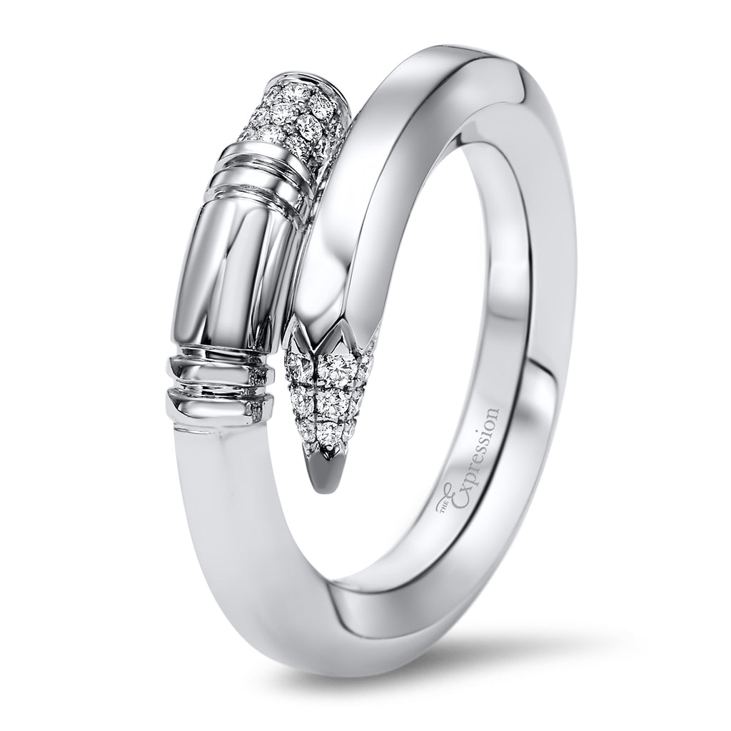 White Gold Medium Gauge Ring