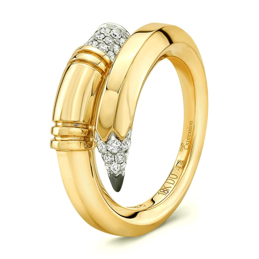 Yellow Gold Medium Gauge Ring