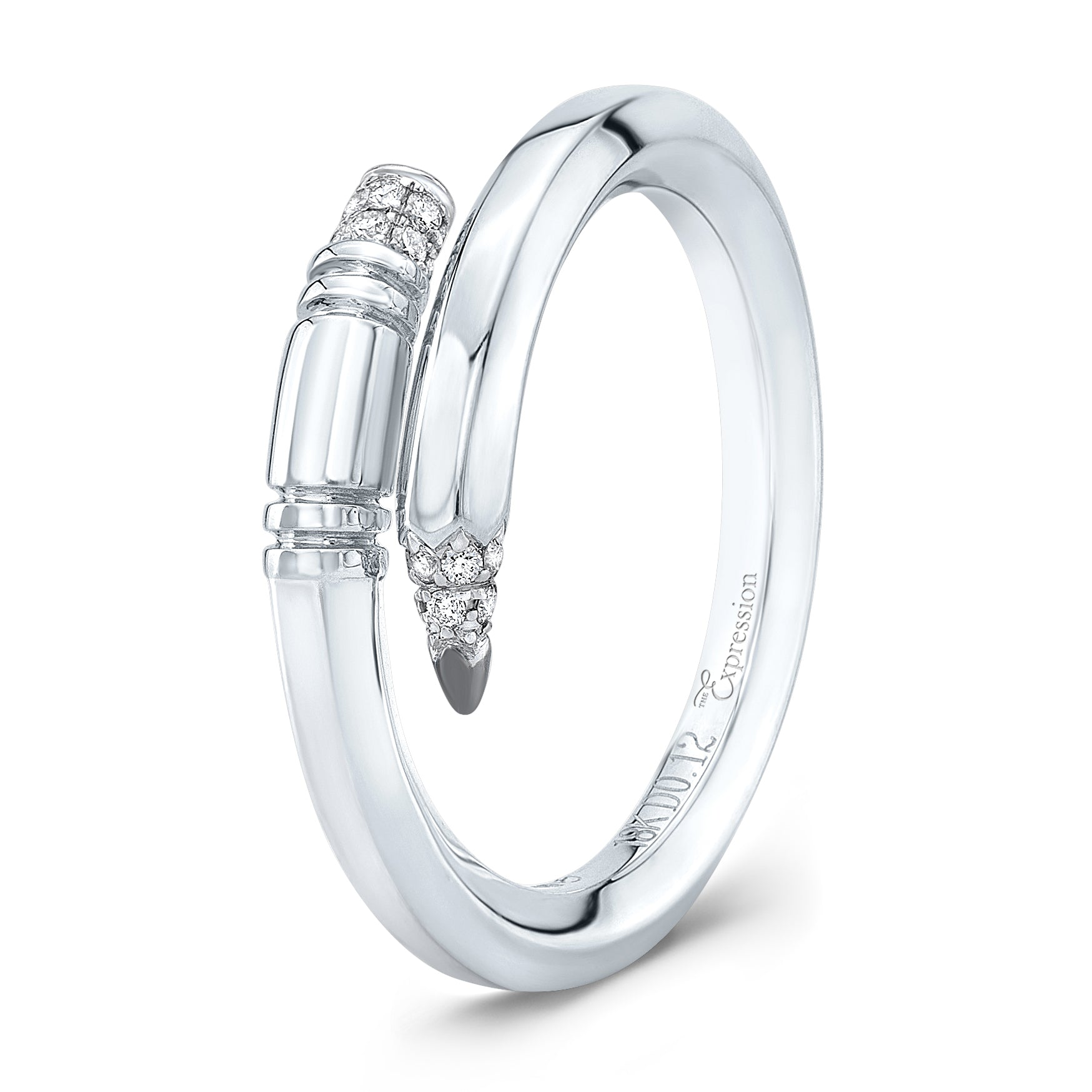 White Gold Small Gauge Ring