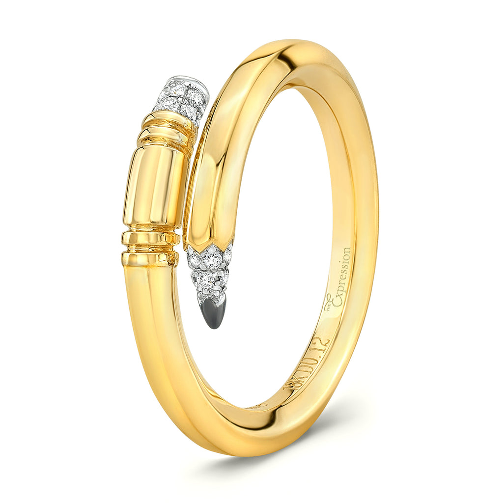 Yellow Gold Small Gauge Ring
