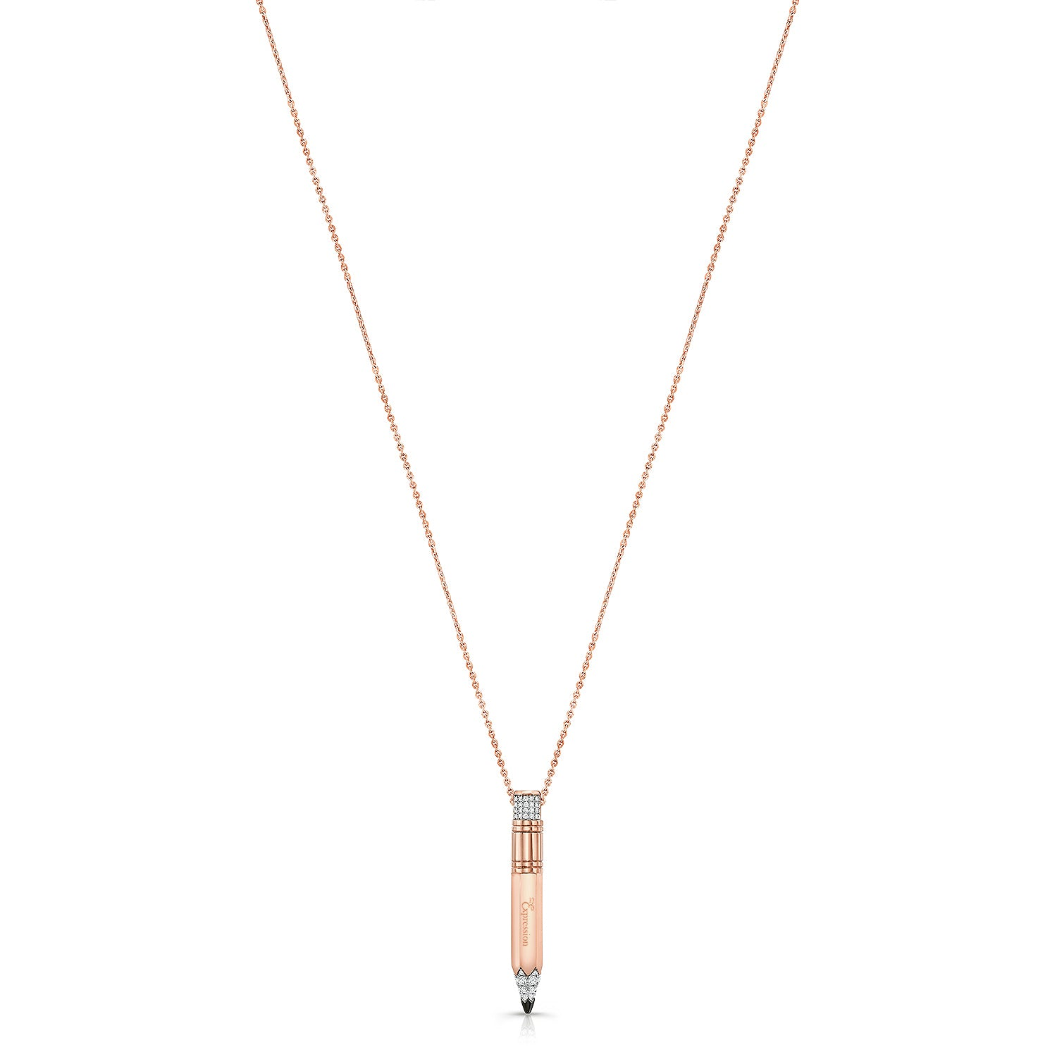 Rose Gold Small Gauge Necklace