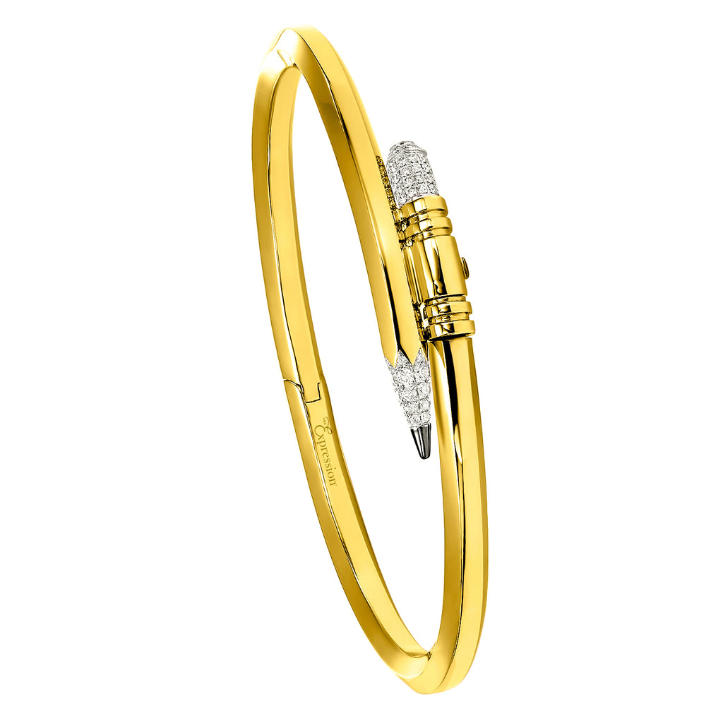 Yellow Gold Small Gauge Bracelet