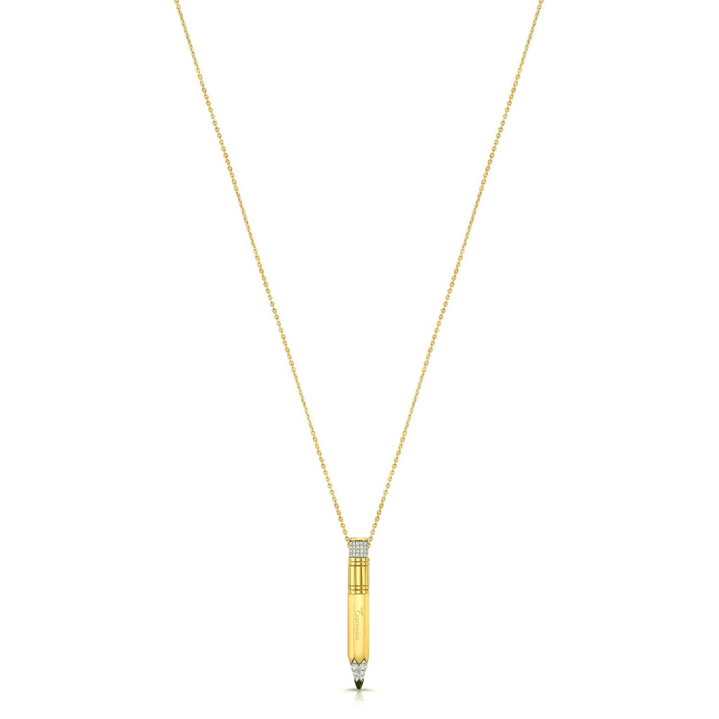 Yellow Gold Small Gauge Necklace