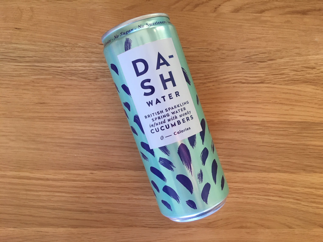 Dash water, cucumber infused