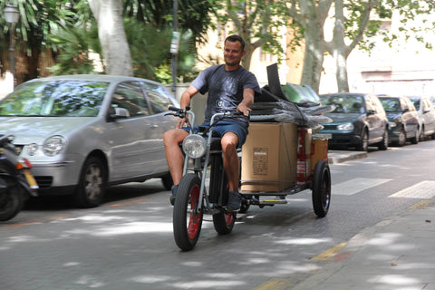 Electric bicycle trailer UNIMOKE