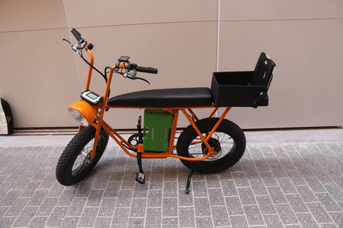 Electric cargo bike and cool seat design
