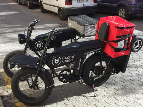 Cool electric cargo and delivery bike