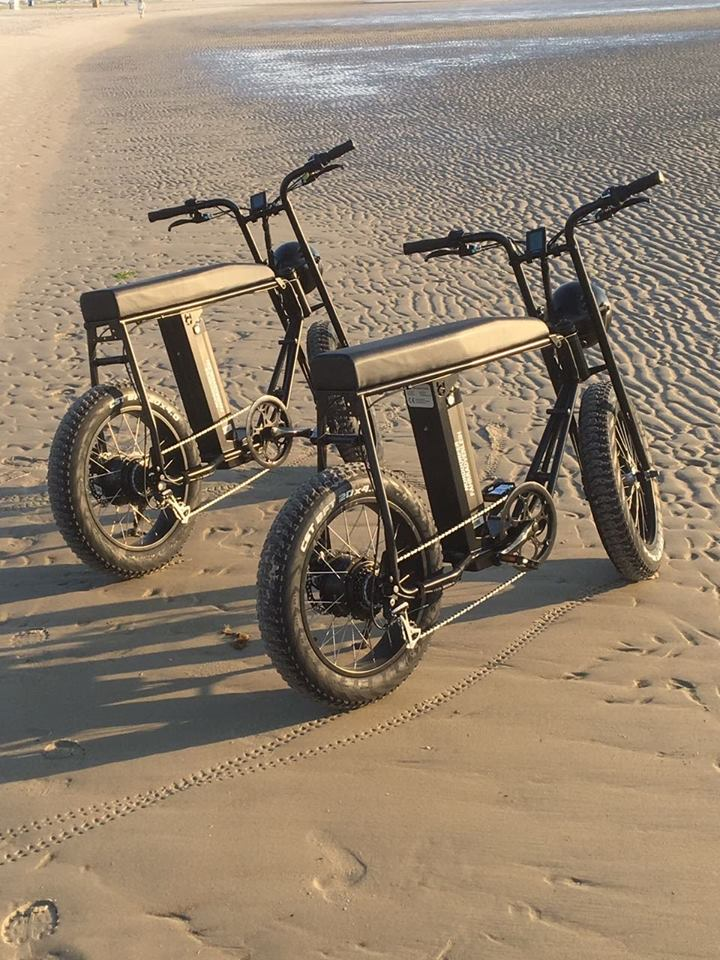 Uni Moke / Scrambler / Super 73 style cool electric fat bike with Lithium battery