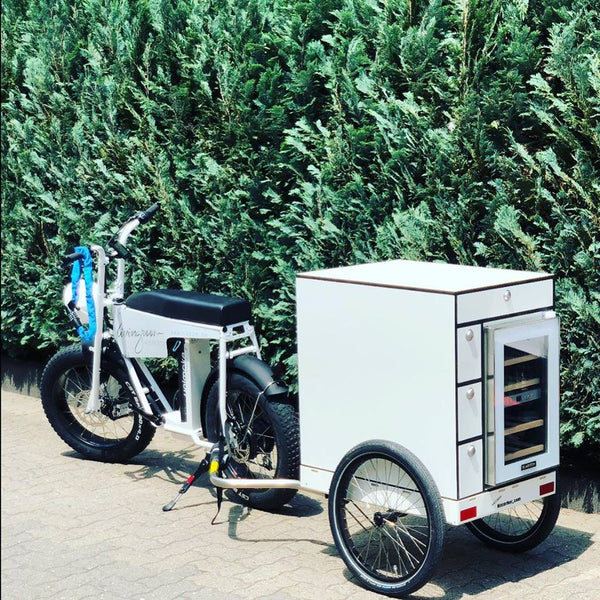 UNI Moke cargo utility electric bike with trailer for food delivery