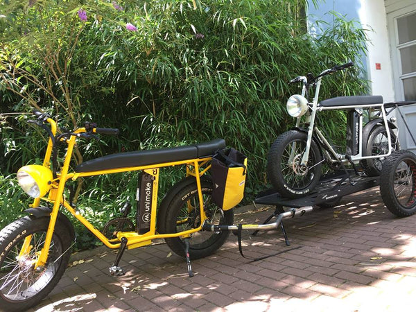 UNI Moke: Electric utility bike/ cargo bike with bike transport trailer