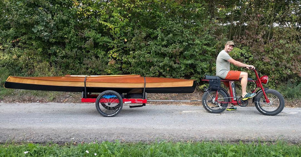 UNI Make: Cool Electric cargo bike with boat trailer