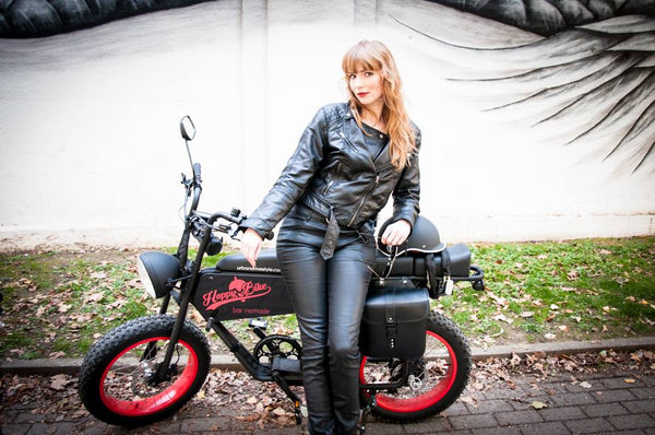Electric bike for women- Uni Moke- Vintage moped style electric bike