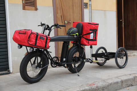 UNIMOKE amazing cargo bike with trailer