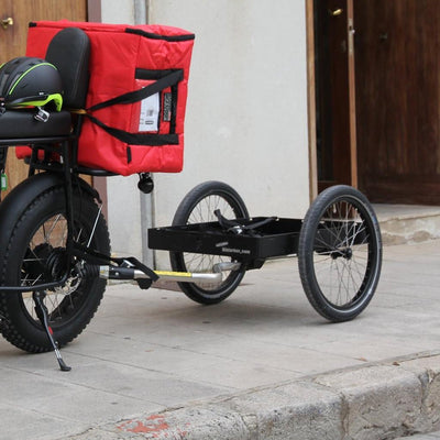 UNIMOKE cargo bike with bicycle trailer hinterher.com