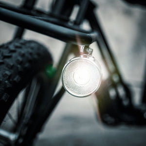 Vintage LED Battery Chrome Front Light for Bicycles AAA Uni Swing Uni Moke Electric Bicycle Ebike Front Cargo Rack