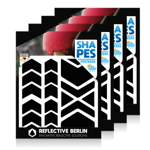 Reflective SHAPES Pack of 4, Pfeile, schwarz