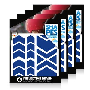 Reflective SHAPES Pack of 4, Pfeile, blau