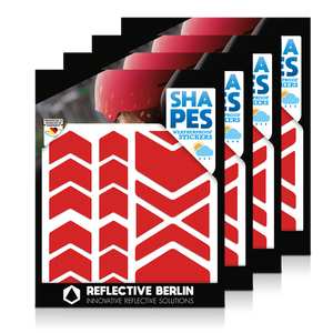 Reflective SHAPES Pack of 4, Pfeile, rot