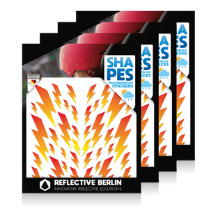 Reflective SHAPES Pack of 4, Blitze, feuer