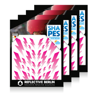 Reflective SHAPES Pack of 4, Blitze, pink