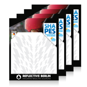 Reflective SHAPES Pack of 4, Blitze, weiß
