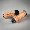 my boo birch wood handlebar grips brown handmade