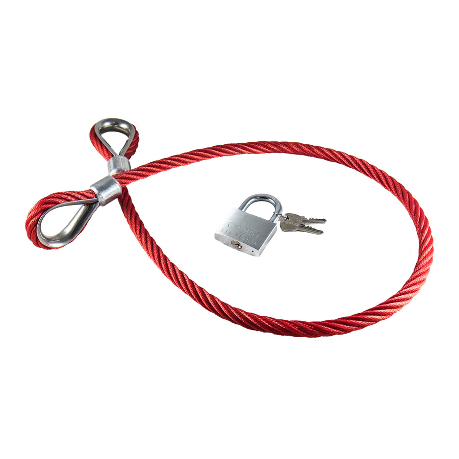 steel cable bike lock high tensile steel safety theft protection